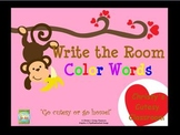 Valentine Write the Room--Color Words