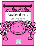 Valentine Write the Room ~ Kindergarten/First Grade Dolch Words