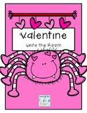 Valentine Write the Room ~ Kindergarten/First Grade Dolch Words