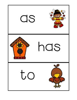 Fall Write the Room ~ Kindergarten/First Grade Dolch Words