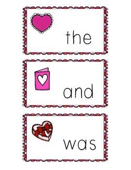 Valentine Write the Room- Sight Words
