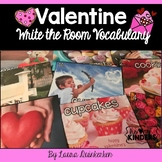 Valentine Write the Room Vocabulary