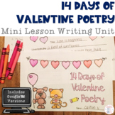 Valentine Writing: 14 Days of Poetry Booklet