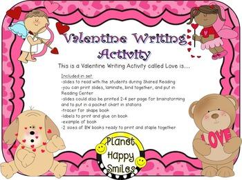 Valentine Writing Activity ~ Love is...