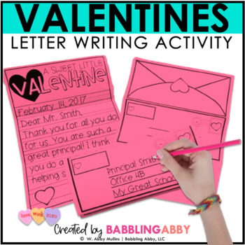 valentine writing activity by babbling abby teachers pay teachers. Black Bedroom Furniture Sets. Home Design Ideas
