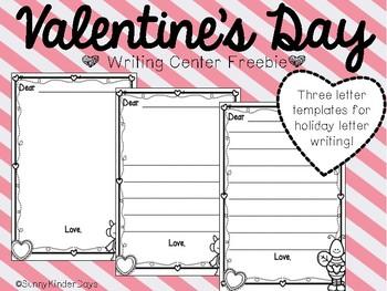 Valentine Writing Center FREEBIE