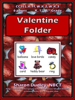 Valentine Writing Folder