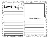 Valentine Writing- Love is