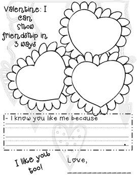 Valentine Writing Mini Pack