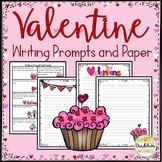 Valentine Writing Prompts and Paper with Dotted Lines