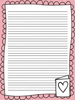 Valentine Writing Paper {Freebie!}