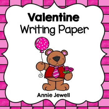 Valentine Writing Paper for Kindergarten and 1st Grade