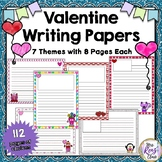 Valentine Writing Paper Mega Set - 112 Papers for Valentine's Writing Projects