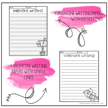 Valentine Writing Prompts and Papers (real photos)