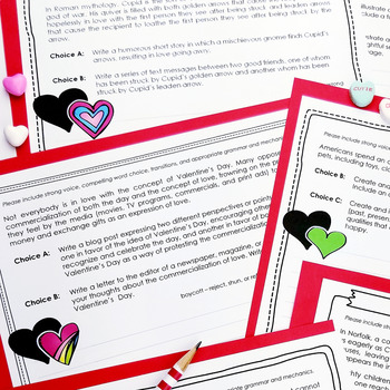 Valentine Writing Prompts (for Secondary Students)
