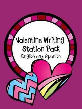 Valentine Writing Station Pack English and Spanish