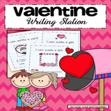 Valentine  Writing Station for Kindergarten