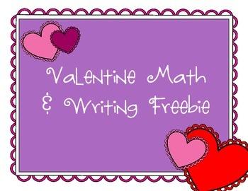 Valentine Writing and Math Freebie