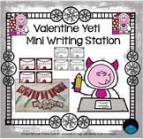 Valentine Yeti Mini Writing Station