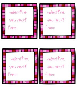 Valentine, You Rock tags