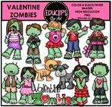 Valentine Zombies Clip Art Bundle {Educlips Clipart}