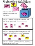 Valentine addition word problems