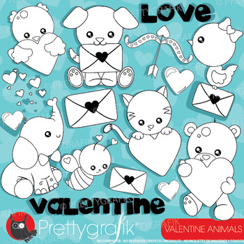 Valentine animal stamps commercial use, vector graphics, i