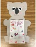 Valentine bag/craft- Koala bear