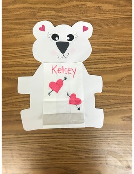 Valentine bag/craft- Polar bear