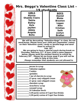 Valentine cards and Ice cream sundae note - editable