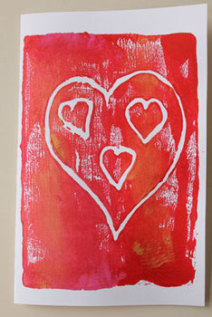 Valentine cards printing activity