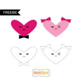 Valentine clip art freebie - heart happy couple