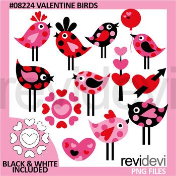 Valentine clipart - Valentine Birds clip art
