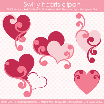 Valentine clipart template, SVG cutting files, heart clipart