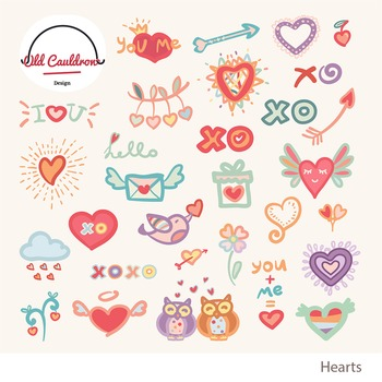 Valentine clipart, valentines day clipart, valentines vector clipart CL010