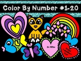 Valentine color by Number (1-20)