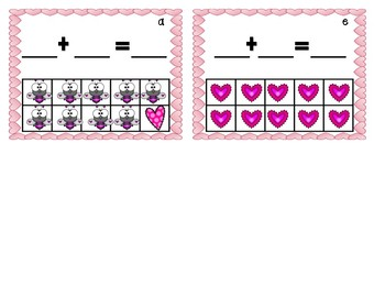 Valentine composing and decomposing numbers to 10