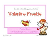 Valentine craft or card Freebie