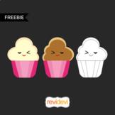 Valentine cupcakes - Free clip art download