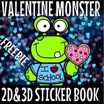 Monster sticker book(FLASH FREEBIE)