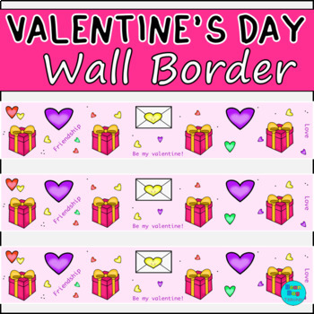 Valentine's Day Wall Border / Bulletin Board Display Border
