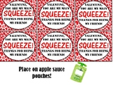Valentine for Applesauce Pouch (You're My Main Squeeze)