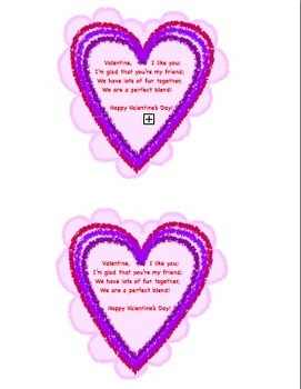 Valentine for Class Heart with Rhyme