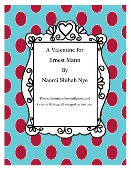 """""""Valentine for Ernest Mann"""" Poetry Study and Creative Writing Activity"""