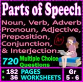 PARTS OF SPEECH. QUESTION BUNDLE. 720 Questions. 182 PAGES. Gr 5-6 ELA
