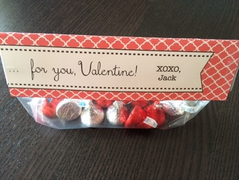 Valentine from Teacher - Hugs & Kisses (Hershey candies)