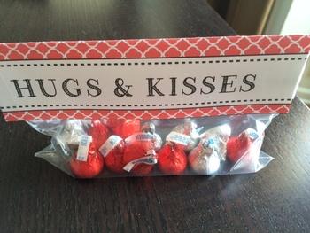 Valentine from Teacher - Hugs & Kisses (Hershey candies)
