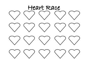 Valentine's Day heart race
