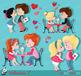 Valentine kids clipart 2 , My Cute Valentine, digital clip art. Valentine's Day