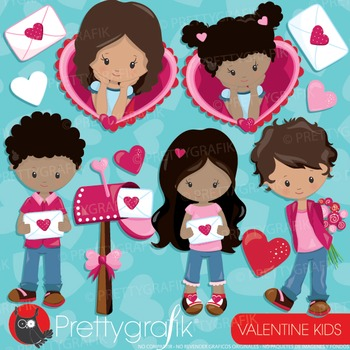 Valentine kids clipart commercial use, vector graphics, digital - CL941